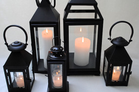 Black Candle Lanterns