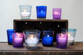 Purple & Blue Candle Holders