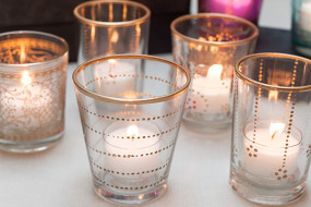 Gold Accented Candle Holders