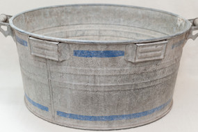 Large Metal Farm Bucket