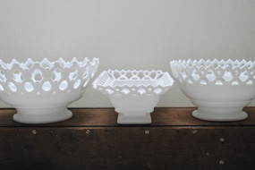 Milk Glass Sailor Bowls