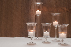 Stemmed Glass Candle Holder