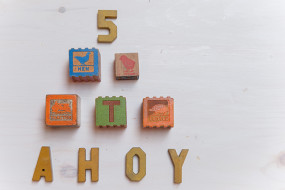 Wooden Toy Blocks & Letters