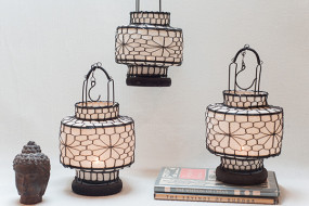White Fabric Lanterns