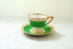 Gold & Green Tea Cup