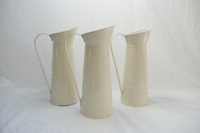 Enamel Pitchers - Cream