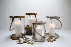 Rope Handle Candle Lantern