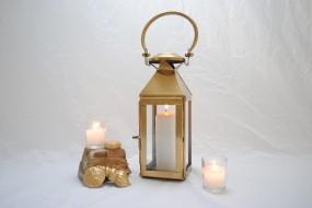Gold Candle Lantern