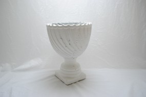 Large White Ceramic Urns